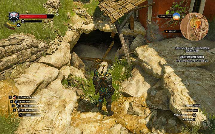 The trail of the lost Witcher leads to the Flavive village in the eastern part of map - Scavenger Hunt: Grandmaster Ursine Gear - diagrams and item statistics - Grandmaster Witcher Gear - quests, diagrams and item statistics - The Witcher 3: Blood and Wine Game Guide