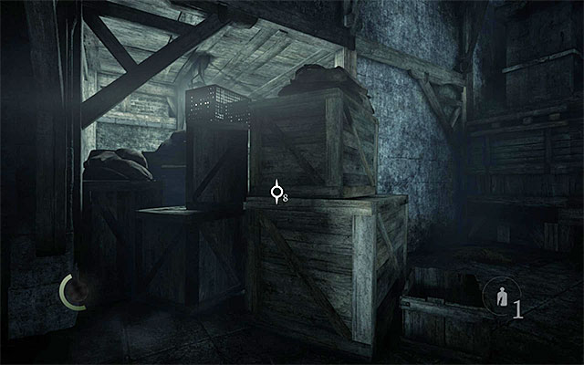 The crates between which Garrett can squeeze - Reach the Greystone Plaza - The City - Thief - Game Guide and Walkthrough
