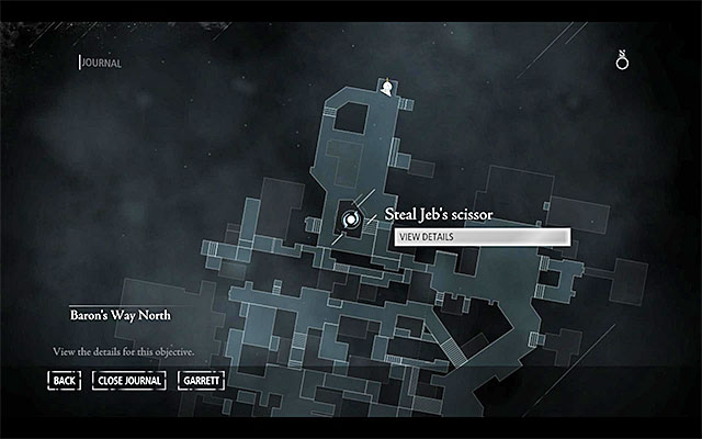 Your destination has been presented in the above screenshot - it is located in the Southern part of South Quarter, in [South Quarter / Riverside - Canal] - The Rule of Thumb - Jobs - Basso - Thief - Game Guide and Walkthrough
