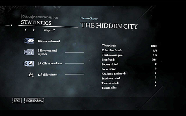 An example of thieving challenges for chapter seven - Thieving Challenges - Thief - Game Guide and Walkthrough