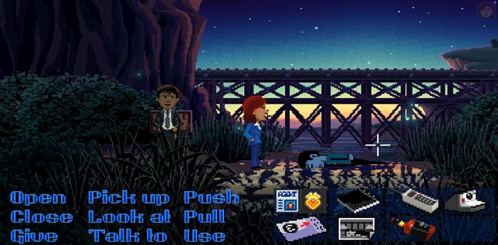 Take a photo of the corpse. - Part 1 - The meeting / Part 2 - The Body | Walkthrough - Walkthrough - Thimbleweed Park Game Guide