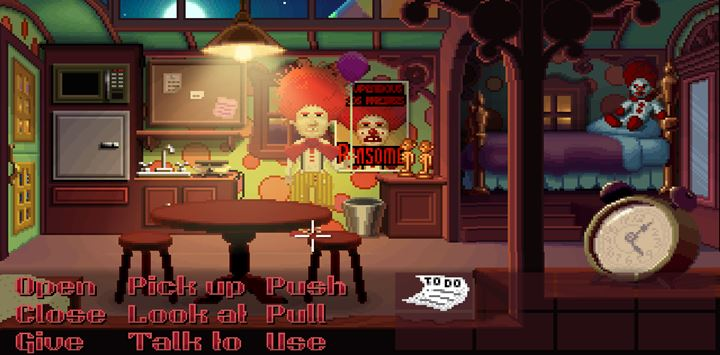 Search through Ransoms room and read the notes on the board. - Part 1 - The meeting / Part 2 - The Body | Walkthrough - Walkthrough - Thimbleweed Park Game Guide