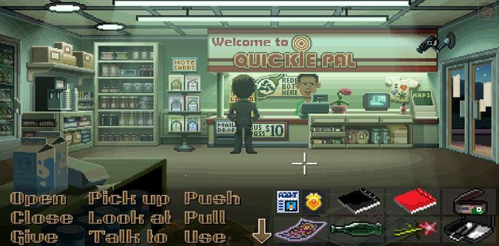 Trade the empty bottle for 10 cents. - Part 1 - The meeting / Part 2 - The Body | Walkthrough - Walkthrough - Thimbleweed Park Game Guide