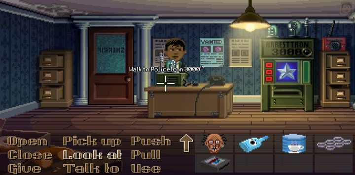 Use the radio to trick the female journalist. - Part 1 - The meeting / Part 2 - The Body | Walkthrough - Walkthrough - Thimbleweed Park Game Guide
