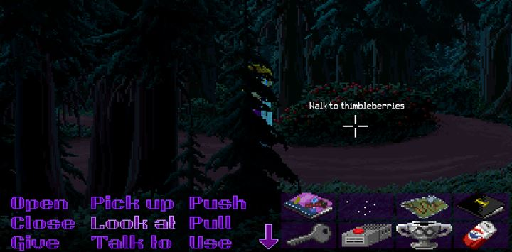 Collect the thimbleberries and give them to the employee of the pipe shop. - Part 4 - The Will / Part 5 - The Reading | Walkthrough - Walkthrough - Thimbleweed Park Game Guide