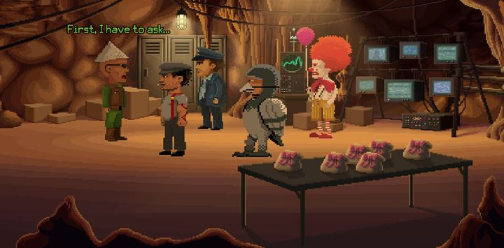 Go to the mysterious meeting and take the gift. - Part 7 - Madness | Walkthrough - Walkthrough - Thimbleweed Park Game Guide