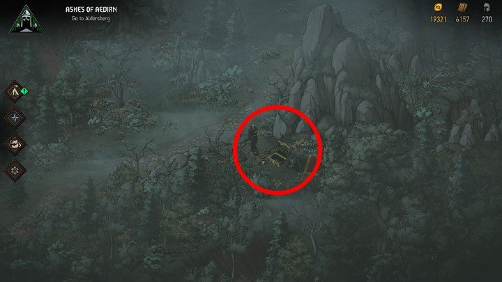 To get the first treasure, youre going to have to backpaddle a bit - Hidden treasures chests in Aedirn | Thronebreaker The Witcher Tales - Maps of hidden treasures - Thronebreaker The Witcher Tales Guide