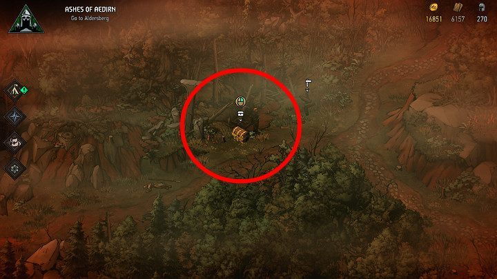 Having found the map, use it to reach the marked location - Hidden treasures chests in Aedirn | Thronebreaker The Witcher Tales - Maps of hidden treasures - Thronebreaker The Witcher Tales Guide
