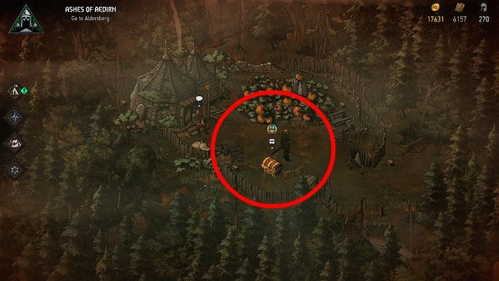 Having acquired the map, head to the designated location - Hidden treasures chests in Aedirn | Thronebreaker The Witcher Tales - Maps of hidden treasures - Thronebreaker The Witcher Tales Guide