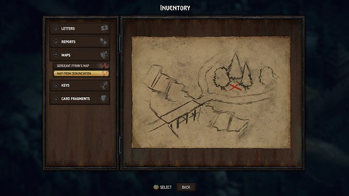 The location of treasure map 3 is marked with a blue number 3 on the map of Rivia - Hidden treasures chests in Rivia | Thronebreaker The Witcher Tales - Maps of hidden treasures - Thronebreaker The Witcher Tales Guide