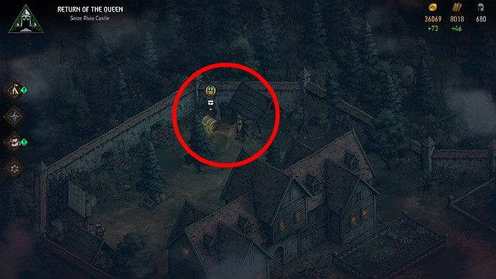 Chest number 4 will become available only after youve taken care of Caldwells son - Hidden treasures chests in Rivia | Thronebreaker The Witcher Tales - Maps of hidden treasures - Thronebreaker The Witcher Tales Guide