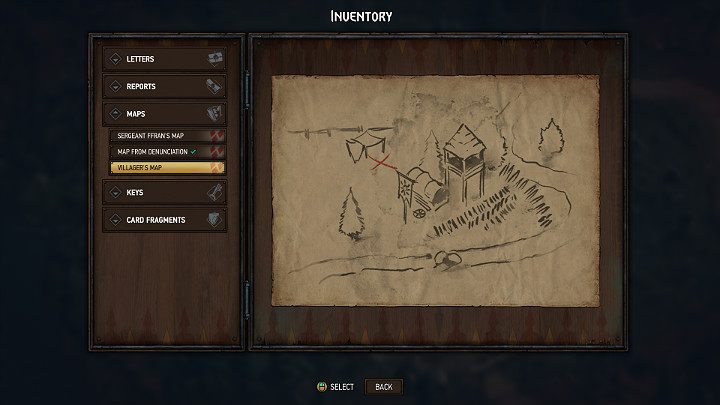 The location of the last treasure map is marked with a blue number 6 - Hidden treasures chests in Rivia | Thronebreaker The Witcher Tales - Maps of hidden treasures - Thronebreaker The Witcher Tales Guide
