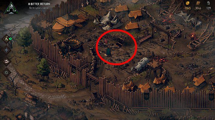 Это сокровище можно найти в западном лагере - Скрытые сокровища сундуки в Лирии | Thronebreaker The Witcher Tales - Карты скрытых сокровищ - Тронно-разбойник The Witcher Tales Guide