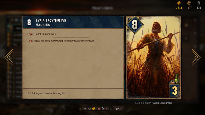 Recruitment of basic units is very cheap, they do not take up much space in the army and are not able to perform any actions - Types of units, flags and gadgets in Thronebreaker The Witcher Tales - Card Deck - Thronebreaker The Witcher Tales Guide