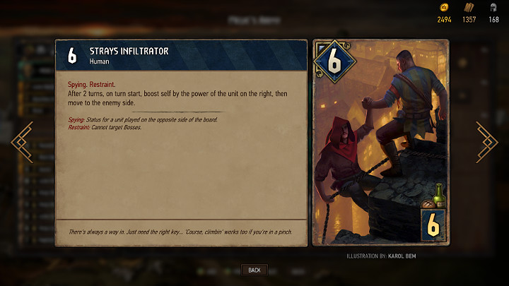 Spy units are sent to the opponents side to trigger a specific effect - Types of units, flags and gadgets in Thronebreaker The Witcher Tales - Card Deck - Thronebreaker The Witcher Tales Guide