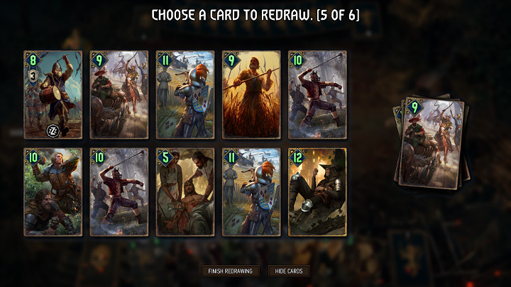 The mulligan (exchange) phase is the first stage of any game - Mulligan phase (exchange of cards) in Thronebreaker The Witcher Tales - Combat - Thronebreaker The Witcher Tales Guide