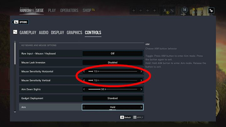 Setting The Mouse Or Pad S Analog Stick In Rainbow Six