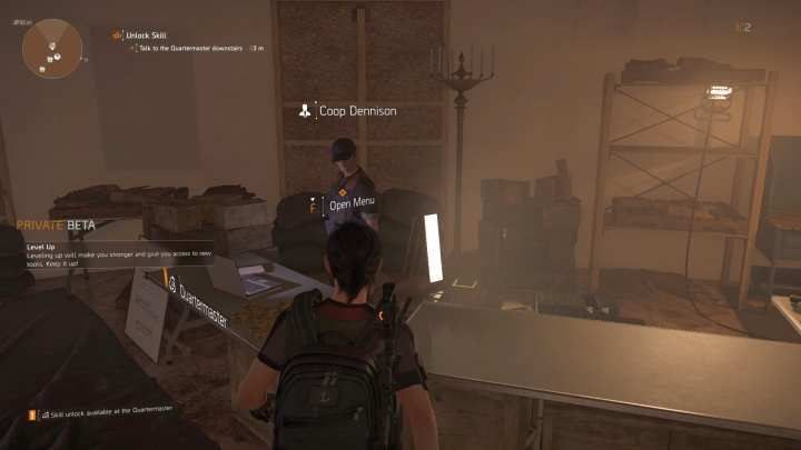 Meeting with the Quartermaster is an objective of the first storyline mission - you cannot avoid it. - Quartermaster | The Base of Operations in The Division 2 - The Base of Operations and Settlements - The Division 2 Guide