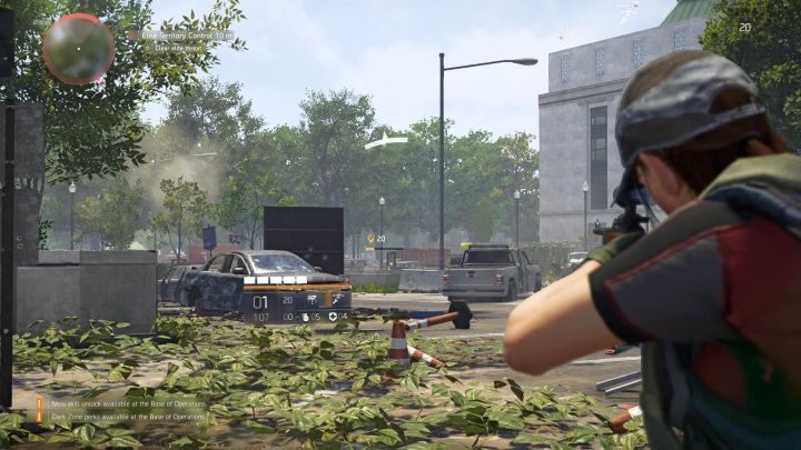 The choice of your weapon matters a lot - here, the character is using a sniper rifle in open space. - How to deal with enemies in The Division 2? - FAQ - The Division 2 Guide