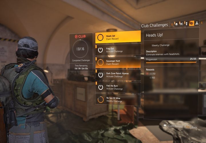 How to activate challenges in The Division 2? - The Division
