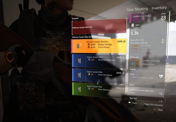 Mods offer various upgrades to statistics. - How to install mods in The Division 2? - FAQ - The Division 2 Guide