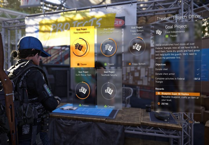 Projects | The Base of Operations in The Division 2 - The Division 2