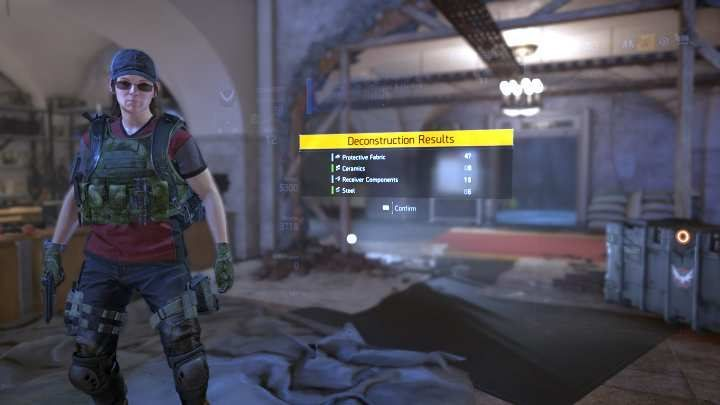 Disassemble, sell, or donate items in The Division 2 - The