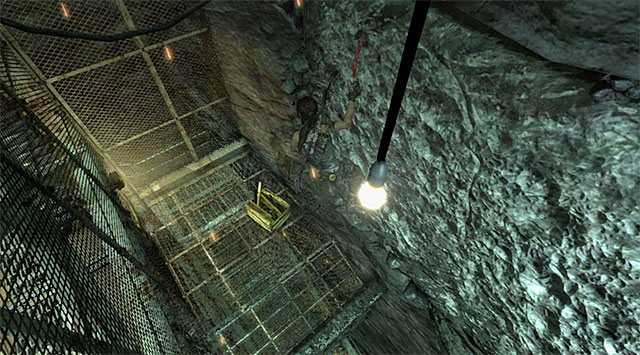 Move to the left and jump towards a new wall after a while - Discover the Ancient Tomb - 23: Storm Chaser - Tomb Raider - Game Guide and Walkthrough