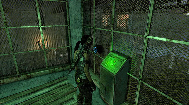 Go up the stairs and use the first control panel to cause an electrical discharge in the adjacent room - The Flooded Vault - Optional Tombs: Shipwreck Beach - Tomb Raider - Game Guide and Walkthrough