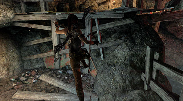 Let go of the mechanism and quickly go left, scrambling up a ledge - Temple of the Handmaidens | Optional Tombs: Shipwreck Beach - Shipwreck Beach | Optional Tombs - Tomb Raider Game Guide