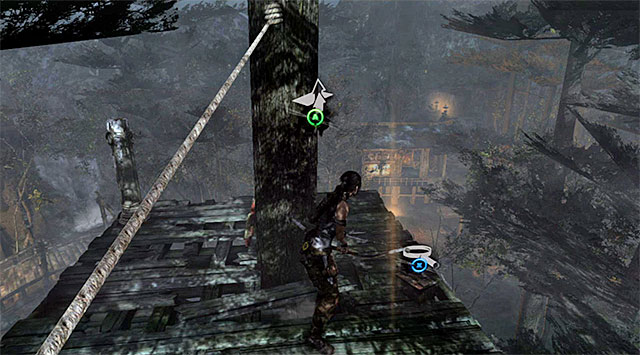 Make your way to the small wooden platform outlined in the distance - Relics | Collectibles: Summit Forest - Collectibles: Summit Forest - Tomb Raider Game Guide