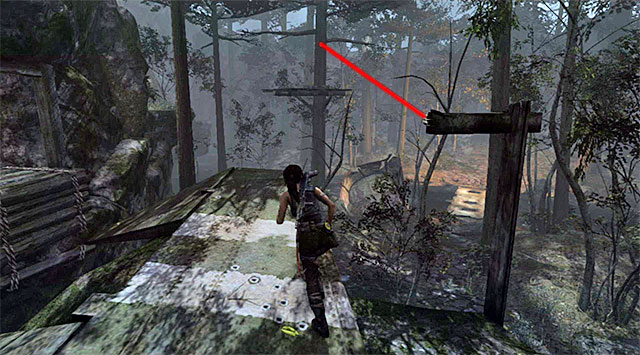 Turn right and leap over to the nearby rope bridge - Relics | Collectibles: Summit Forest - Collectibles: Summit Forest - Tomb Raider Game Guide