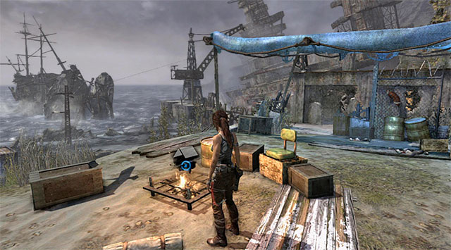 BASE CAMP 1/4 - SURVIVORS CAMP - Campsites | Collectibles: Shipwreck Beach - Collectibles: Shipwreck Beach - Tomb Raider Game Guide