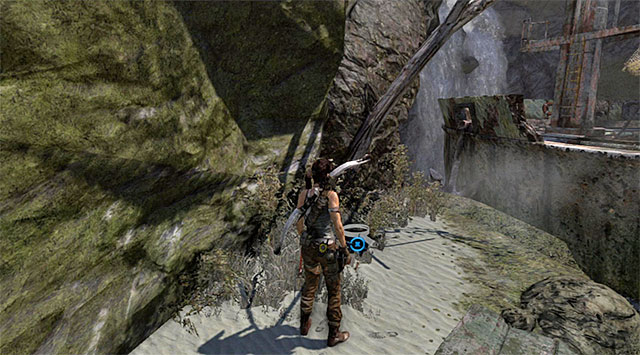 Use the climbing axe and make your way to the top (reward: 5 XP) - GPS Caches (01-07) | Collectibles: Shipwreck Beach - Collectibles: Shipwreck Beach - Tomb Raider Game Guide