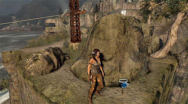 Look for the Cache behind a large rock (reward: 5 XP) - GPS Caches | Collectibles: Cliffside Bunker - Collectibles: Cliffside Bunker - Tomb Raider Game Guide