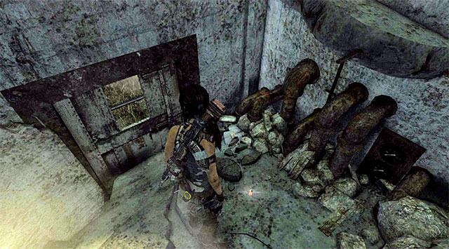 The cache youre looking for lies on the ground (reward: 5 XP) - GPS Caches | Collectibles: Research Base - Collectibles: Research Base - Tomb Raider Game Guide