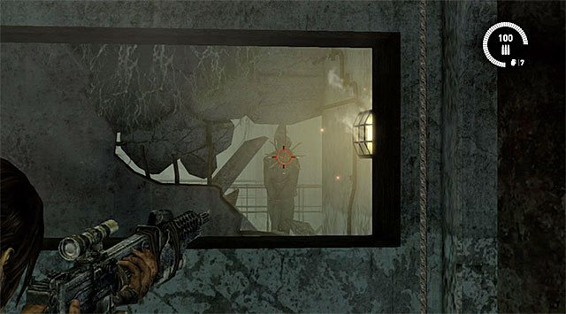 After opening the door approach the edge and zoom in to locate the totem visible in a distance (reward: 10 XP) - Sun Killer | Collectibles: Research Base - Collectibles: Research Base - Tomb Raider Game Guide