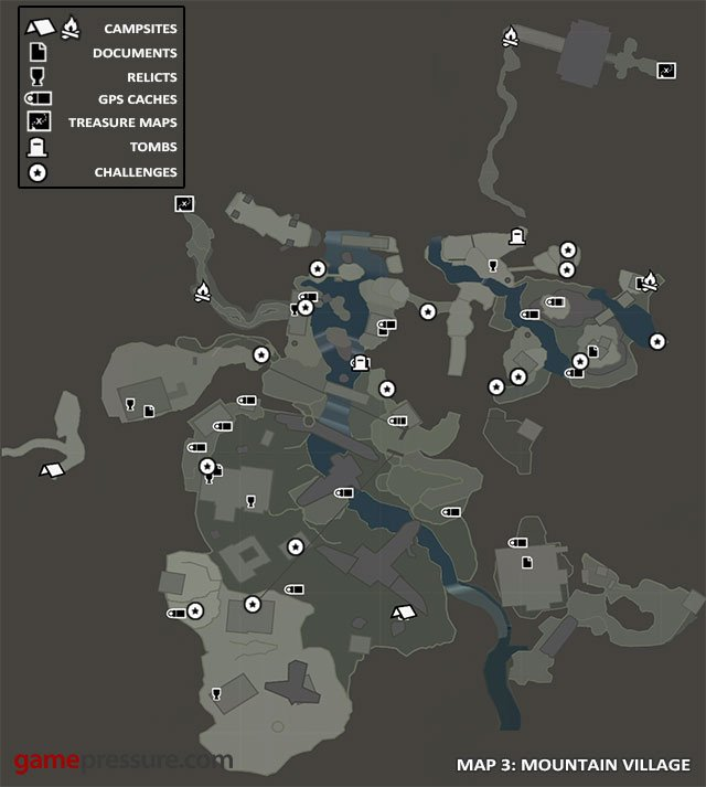 Map | Collectibles: Mountain Village - Tomb Raider Game Guide ...