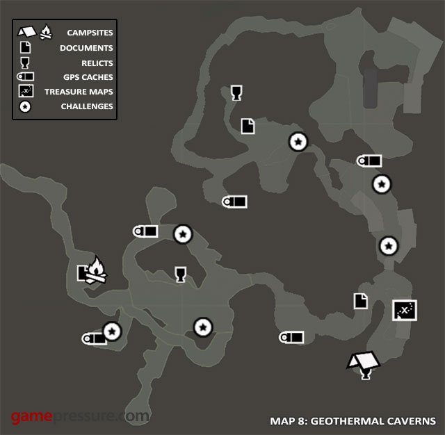 Map Collectibles Geothermal Caverns Tomb Raider Game Guide