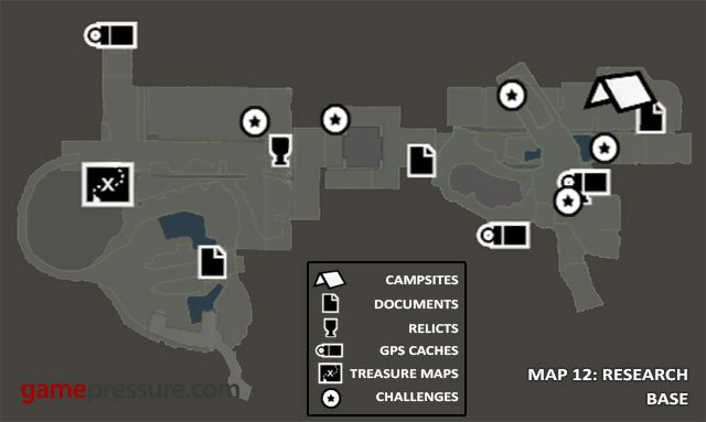 Map 12: Research Base - Map | Collectibles: Research Base - Collectibles: Research Base - Tomb Raider Game Guide