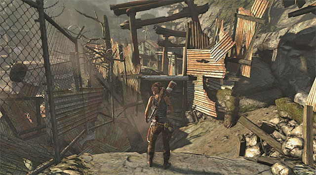 Stay on the main path to Shantytown - Look for First Aid | 13: Open Wounds Walkthrough - 13: Open Wounds | Walkthrough - Tomb Raider Game Guide