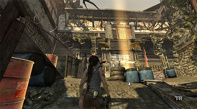 When you approach the gate (screenshot), the game will trigger another cut-scene which will end with you having to battle another wave of enemies - Reach the Gate Under the Bridge | 14: Highway to Hell Walkthrough - 14: Highway to Hell | Walkthrough - Tomb Raider Game Guide