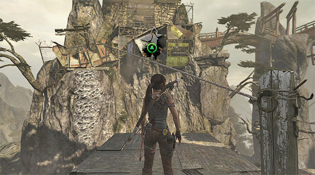 Grab whatever collectibles the enemies drop, then use the zip-line - Find a Way into the Solarii Stronghold | 16: No One Left Behind Walkthrough - 16: No One Left Behind | Walkthrough - Tomb Raider Game Guide