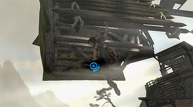 As soon as he kills the last one, attempt to climb the bridge; this will trigger a cut-scene illustrating a rough-and-tumble with one of the guards - Find a Way into the Solarii Stronghold | 16: No One Left Behind Walkthrough - 16: No One Left Behind | Walkthrough - Tomb Raider Game Guide