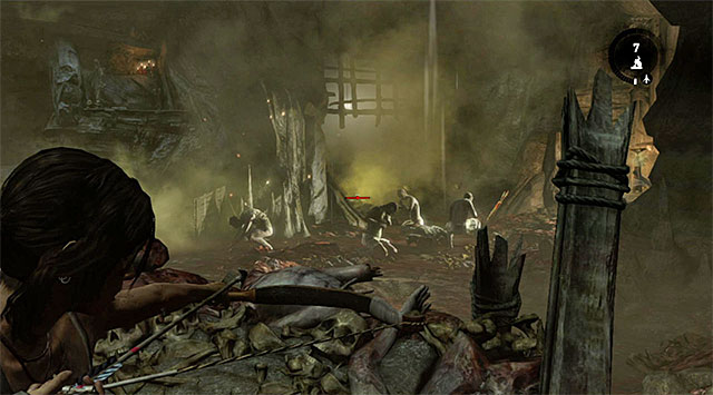 Squeeze through the rocks and watch a short cut-scene illustrating heathens ripping their victim apart - Rescue the Captured Endurance Crew | 16: No One Left Behind Walkthrough - 16: No One Left Behind | Walkthrough - Tomb Raider Game Guide