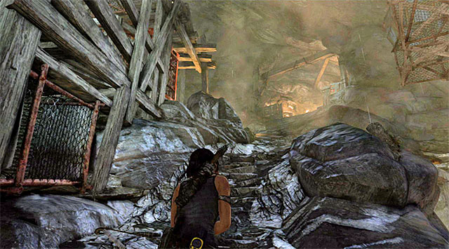 When the shootout is over, search for supplies, then make your way towards the barricaded passageway - Rescue the Captured Endurance Crew | 16: No One Left Behind Walkthrough - 16: No One Left Behind | Walkthrough - Tomb Raider Game Guide