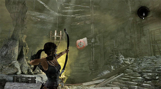 Head west to locate another valve, which you can destroy with the climbing axe - Rescue the Captured Endurance Crew | 16: No One Left Behind Walkthrough - 16: No One Left Behind | Walkthrough - Tomb Raider Game Guide