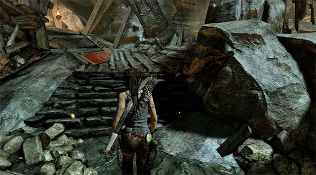 Notice that the explosion unlocked the above passage - Rescue the Captured Endurance Crew | 16: No One Left Behind Walkthrough - 16: No One Left Behind | Walkthrough - Tomb Raider Game Guide