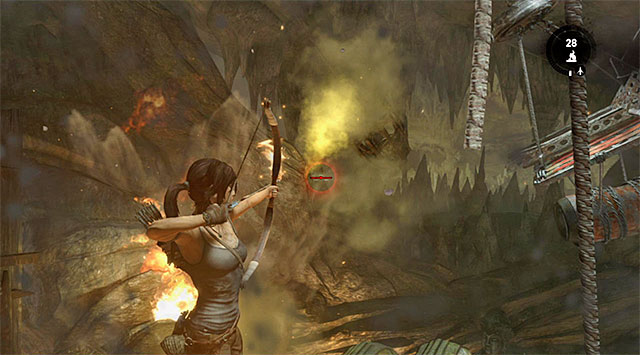 Send another fire arrow to cause another explosion - Rescue the Captured Endurance Crew | 16: No One Left Behind Walkthrough - 16: No One Left Behind | Walkthrough - Tomb Raider Game Guide