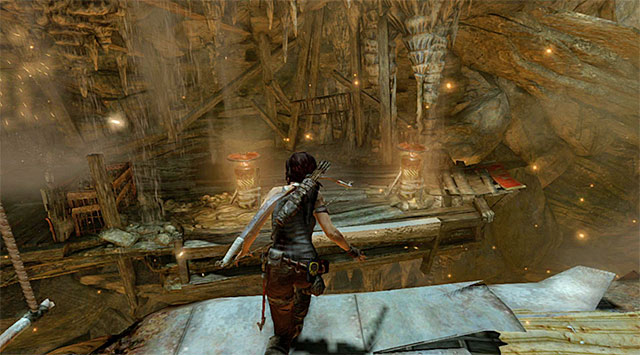 When youre back on top, leap over to the platform pictured above - Rescue the Captured Endurance Crew | 16: No One Left Behind Walkthrough - 16: No One Left Behind | Walkthrough - Tomb Raider Game Guide